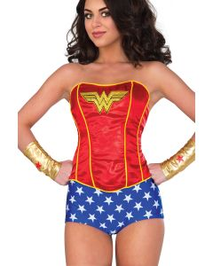 Rubies DC Comics Super Hero Girls Wonder Woman Corset, Red Yellow, Medium/Large