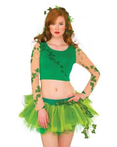 Rubies DC Comics Villians Poison Ivy Costume Crop Top, Green Beige, Small/Medium