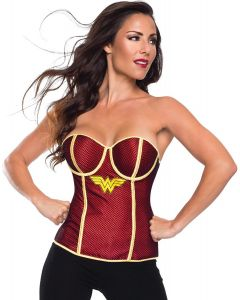 Rubies DC Comics Superheroes Wonder Woman Corset, Red Yellow, Medium 8-10
