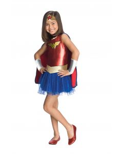 DC Comics Wonder Woman Justice League 6pc Toddler Costume, Red Blue, Toddler 2T