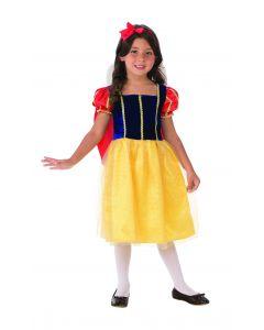Rubies Cottage Princess Ruffled Dress Girl Costume, Blue Yellow