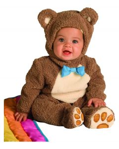 Halloween Oatmeal Teddy Bear 3pc Infant Costume, Brown, Infant 6-12 Months
