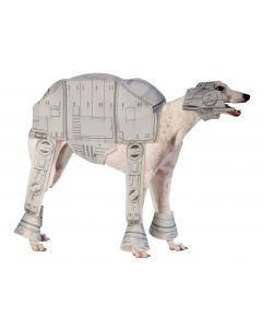 "Star Wars AT-AT Imperial Walker 2pc Pet Costume, Grey, Medium 15"" Neck to Tail"