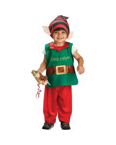 Christmas Santa's Little Helper Elf 3pc Toddler Costume, Green Red, Toddler