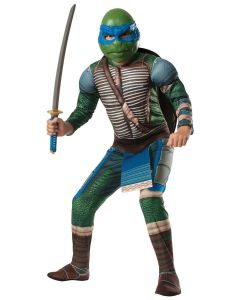 Teenage Mutant Ninja Turtles Movie Leonardo 4pc Child Costume, Blue, L 12-14