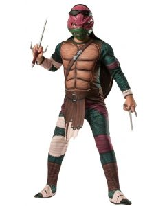 Teenage Mutant Ninja Turtles Movie Raphael 4pc Child Costume, Red, M 8-10