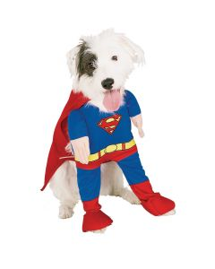 Rubies Officially Licensed Superman Dog 2pc Pet Costume, Blue Red, Small