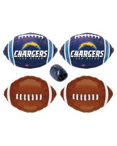 San Diego Chargers Football Mylar Foil Balloons 5pc Starter Party Pack