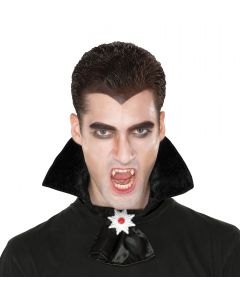 Mens Vampire Collar w Medallion Costume Accessory, One Size, Black Silver Red
