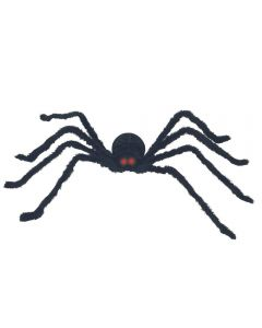 Black Posable Spider With Light And Sound Halloween Decoration Prop, Black