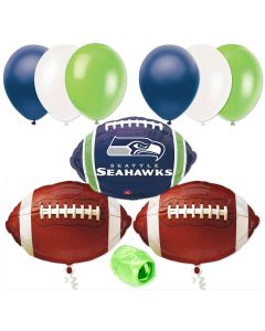 Seattle Seahawks Football Balloons Decorating 10pc Starter Party Pack