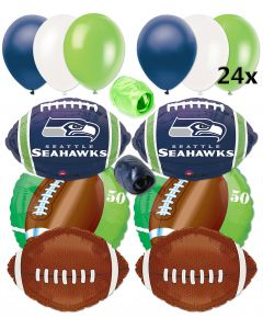 Seattle Seahawks Football Balloons Decorating 32pc Ultimate Pack Green