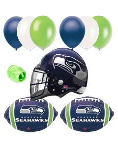 Seattle Seahawks Football Helmet Balloon Super Bowl Party 10pc Pack