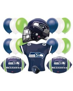 Seattle Seahawks Football Party Helmet Jersey Balloons 17pc Pack Green