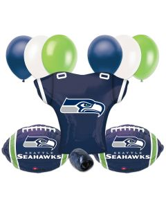 Seattle Seahawks Team Football Jersey Foil Balloon Party Pack - 10pcs