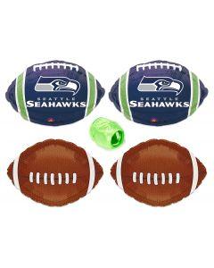 Seattle Seahawks Football Mylar Foil Balloons Starter Pack - 5pc Kit