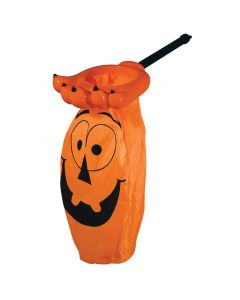 "Seasons Neon Monster Hand Loot Scoop Trick or Treat Bucket, 16"", Orange"
