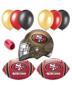 San Francisco 49ers Football Helmet Balloon Party Decorating 10pc Pack