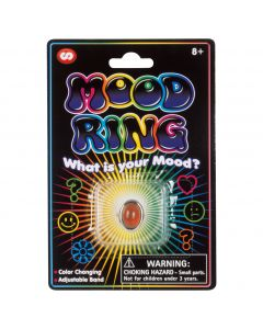 "Stupidiotic Mood Ring for Kids Stocking Stuffer 2"" Novelty Toy, Silver Rainbow"