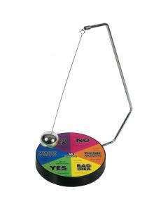 "Stupidiotic Decision Aider Desk Pendulum 10"" Game Set, Black Rainbow"