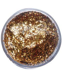 snazaroo Kids Makeup Effects Clam Shell 12ml Glitter Gel, Gold Red