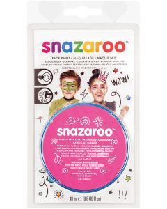 snazaroo Kids Makeup Clam Shell 18ml Water-Activated Makeup, Bright Pink