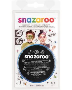 snazaroo Kids Makeup Clam Shell 18ml Water-Activated Makeup, Black