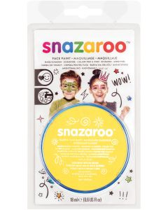 snazaroo Kids Makeup Clam Shell 18ml Water-Activated Makeup, Bright Yellow