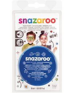 snazaroo Kids Makeup Clam Shell 18ml Water-Activated Makeup, Royal Blue