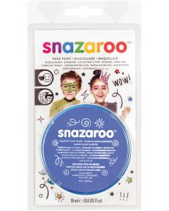 snazaroo Kids Makeup Clam Shell 18ml Water-Activated Makeup, Sky Blue