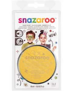 snazaroo Kids Makeup Clam Shell 18ml Water-Activated Makeup, Metallic Gold