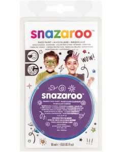 snazaroo Kids Makeup Clam Shell 18ml Water-Activated Makeup, Purple