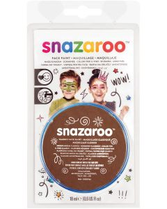 snazaroo Kids Makeup Clam Shell 18ml Water-Activated Makeup, Light Brown