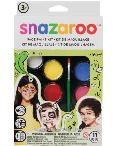 snazaroo Rainbow Color Set Face Paint Palette 11pc 16ml Makeup Kit