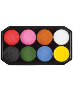 snazaroo 8-Color Classic Face Painting 144ml Makeup Palette, Rainbow