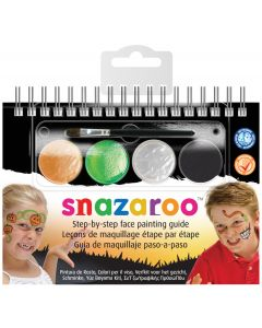 snazaroo Halloween Step-by-Step Face Painting Guide 6pc 4ml Makeup Kit
