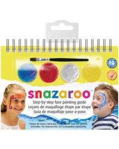 snazaroo Sea Life Step-by-Step Face Painting Guide 6pc 4ml Makeup Kit