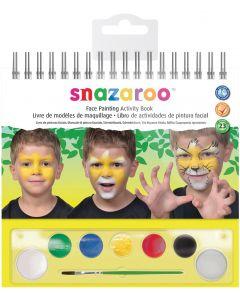 snazaroo Classic Face Painting Activity Book 9pc 7ml Makeup Kit