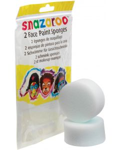 snazaroo High Density Professional Face Painting Sponge, White, 2 Pack
