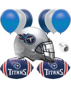Tennessee Titans Football Party Helmet 10pc Balloon Pack, Navy Blue White