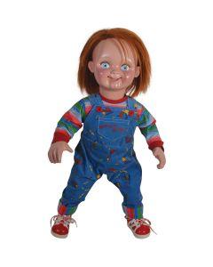 Child's Play 2 - Good Guys Chucky Doll Costume Prop, Blue Multi