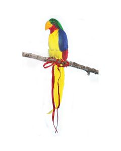 "Shoulder Parrot Luau Decoration Costume Prop, Yellow Multi, 10"" Tall"