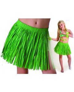 Tropical Sun Girls Luau Tropical Paper Raffia Hula Skirt, Green, One-Size