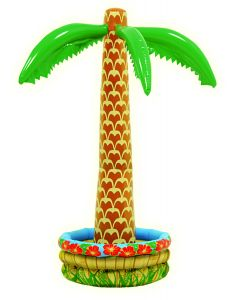 "Tropical Palm Tree Luau Party Decor 72"" Tall Inflatable Drink Cooler, Tan Green"
