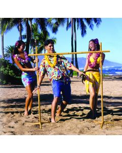 "Tropical Sun Luau Free Standing Limbo Set 3pc 60"" Party Game, Beige"