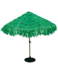 Tropical Sun Palm Tree Umbrella Cover Summer Luau 9' Outdoor Decor, Green