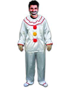 American Horror Story Twisty Clown 4pc Men Costume w Mask, Multi, One-Size