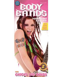 Tinsley Transfers Flowers Chicks Dig Bands Temporary Tattoo FX Kit