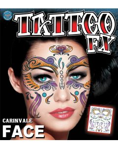 Tinsley Transfers Carinvale Face Temporary Tattoo FX Face Kit
