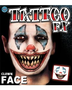 Tinsley Transfers Clown Face Temporary Tattoo FX Face Kit